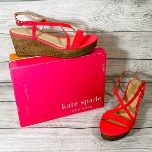 NIB Kate Spade Helene Pink Patent Sandal 9M
